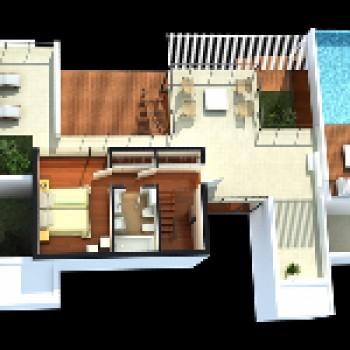 planta residencial 3d projeto de casas 1 Planta Residencial 3D   Projeto de Casas