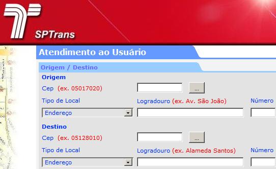 sptrans 1210515458109 SPTrans  Itinerário de Ônibus