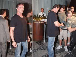 stalonne no rio Sylvester Stallone no Brasil