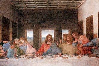 ultima ceia Fotos e Imagens da A Última Ceia de Leonardo da Vinci em alta resolução