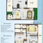 planta casa geminada 01 150x150 Planta de Casas 2 Pisos