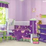 quarto de bebe lilas com verde 150x150 Dicas para decorar quarto infantil pequeno