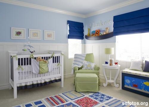 quarto de bebe masculino decorado azul1 150x150 Decoração de Quarto