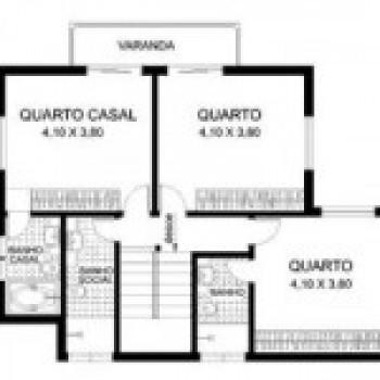 planta de casas com 4 quartos 3 Planta de Casas com 4 Quartos