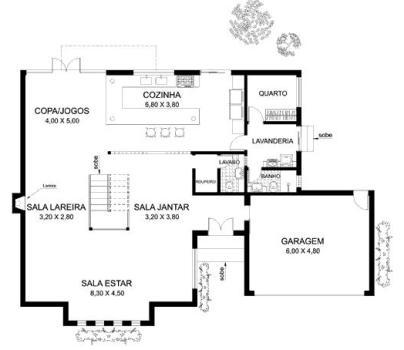 planta de casas com 4 quartos 4 Planta de Casas com 4 Quartos