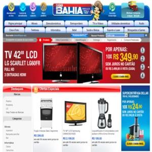 Site das Casas Bahia www.casasbahia.com .br  Site das Casas Bahia: www.casasbahia.com.br