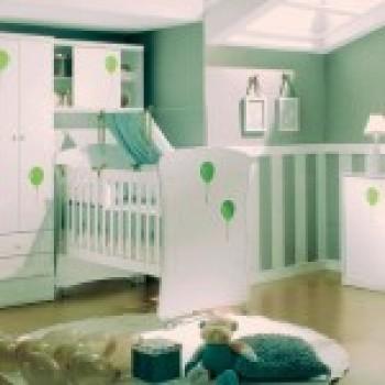 quarto de bebe decorado verde 1 Quarto de Bebê Decorado Verde