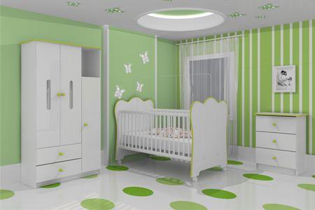 quarto de bebe decorado verde 2 Quarto de Bebê Decorado Verde