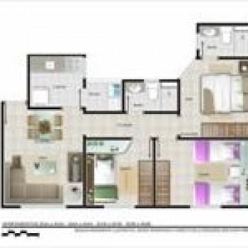 planta de apartamentos grátis pequenos com medidas 2 Planta de Apartamentos: Grátis, Pequenos, com Medidas