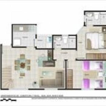 planta de apartamentos grátis pequenos com medidas 3 Planta de Apartamentos: Grátis, Pequenos, com Medidas