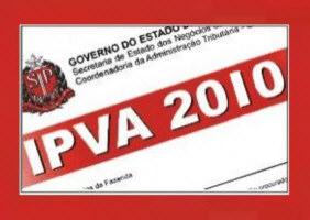 valor ipva 2010 em sp e rj IPVA 2 Via SP