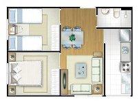 planta de apartamento pequeno 3 Planta de Apartamento Pequeno