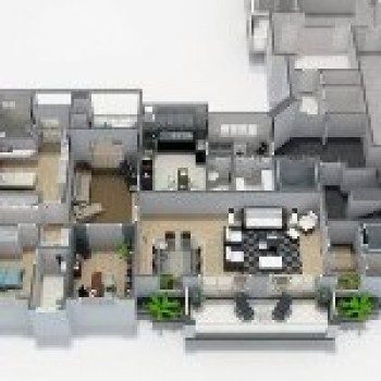 planta residencial 3d projeto de casas 2 Planta Residencial 3D   Projeto de Casas