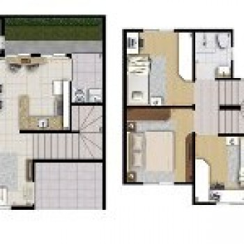 planta residencial 3d projeto de casas 3 Planta Residencial 3D   Projeto de Casas