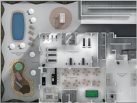 planta residencial 3d projeto de casas 4 Planta Residencial 3D   Projeto de Casas