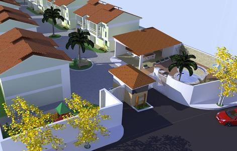 planta residencial 3d projeto de casas Planta Residencial 3D   Projeto de Casas