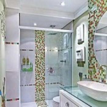 banheiros com pastilhas de vidro 1 Banheiros com Pastilhas de Vidro