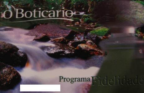 cartão fidelidade O boticário Cartão Fidelidade O Boticário