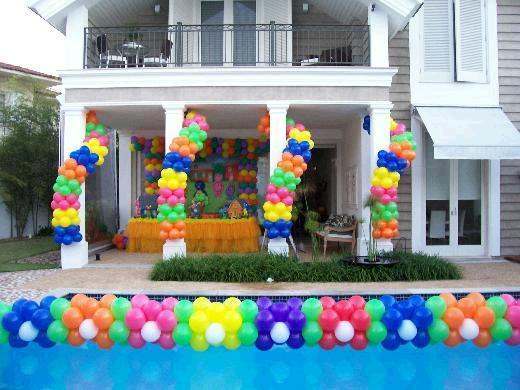 de piscinas para festa 300×224 Decoração de Piscinas para Festas