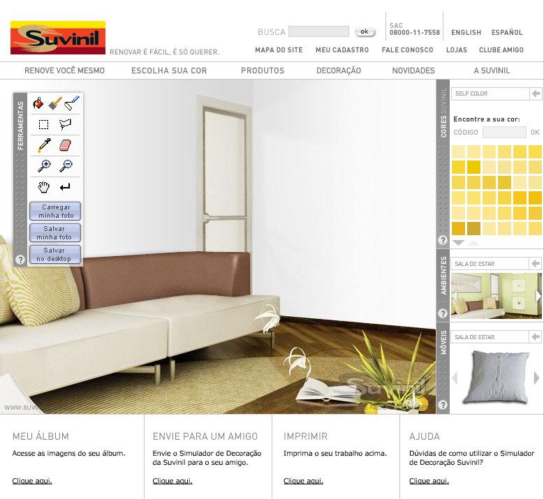 Simulador de decora o suvinil for Simulador de casas