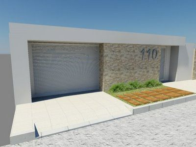 Fachadas de muros residenciais for Casa moderna 7x15