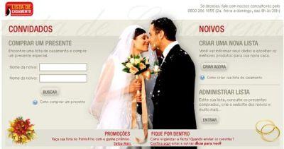 Ponto Frio Lista De Casamento Ponto Frio Lista De Casamento