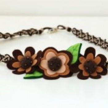 colares de tecido com flores fotos 2 Colares De Tecido Com Flores   Fotos