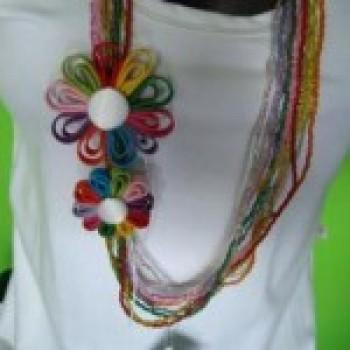 colares de tecido com flores fotos 3 Colares De Tecido Com Flores   Fotos