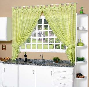 cortinas para cozinha com varão fotos Cortinas Para Cozinha Com Varão   Fotos