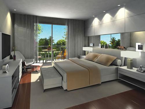 Decora o de quartos modernos fotos for Modelos de apartamentos pequenos modernos