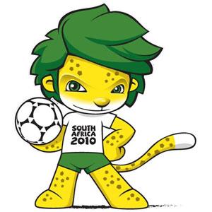 Mascote copa mundo 2010 para colorir2 Mascote da Copa do Mundo 2010 para Colorir