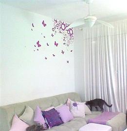 Adesivos e papeis de parede para quartos(: