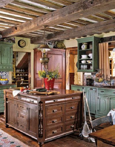 decoracao de interiores estilo country:Vintage Country Rustic Kitchen