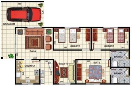 plantas de casas com garagem 1 Plantas De Casas Com Garagem