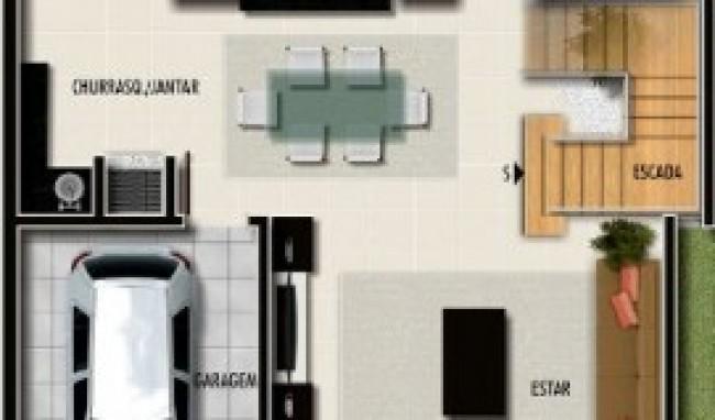 plantas de casas com garagem 2 Plantas De Casas Com Garagem