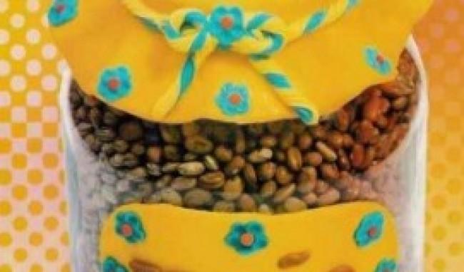potes de biscuit decorados como fazer 4 Potes De Biscuit Decorados   Como Fazer
