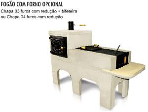 fogao forno opcional1 Fogão A Lenha Pré Moldado   Preços