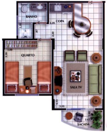 plantas de casa com sala e cozinha conjugadas 1 Plantas De Casa Com Sala e Cozinha Conjugadas