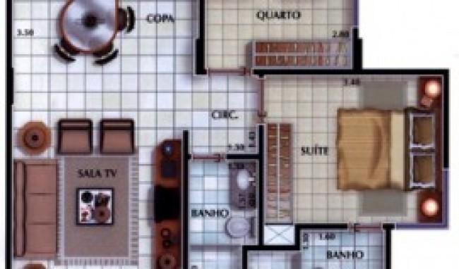 plantas de casa com sala e cozinha conjugadas 2 Plantas De Casa Com
