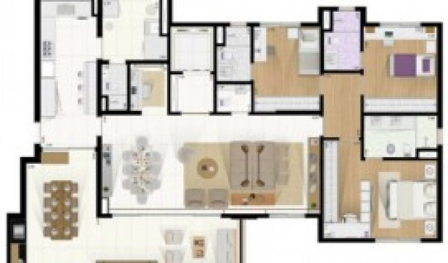 plantas de casa com sala e cozinha conjugadas 3 Plantas De Casa Com Sala e Cozinha Conjugadas
