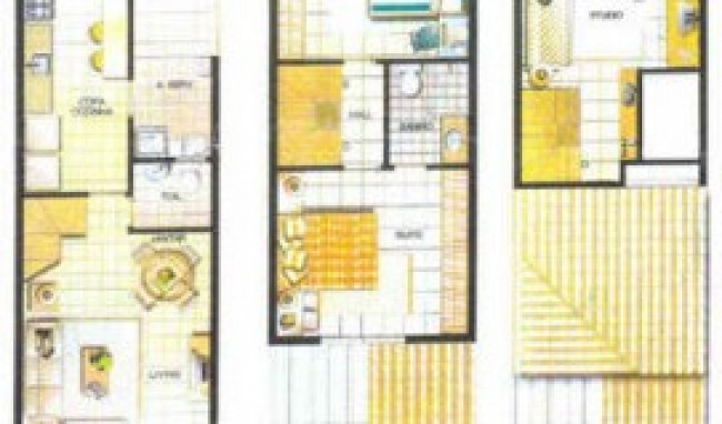 plantas de casas triplex 1 Plantas De Casas Triplex