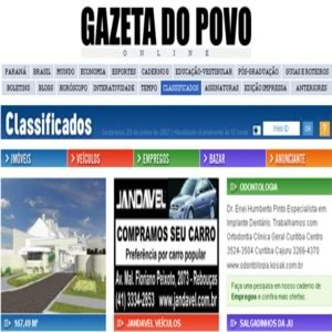 classificado gazeta do povo empregos Classificados Gazeta do Povo Empregos