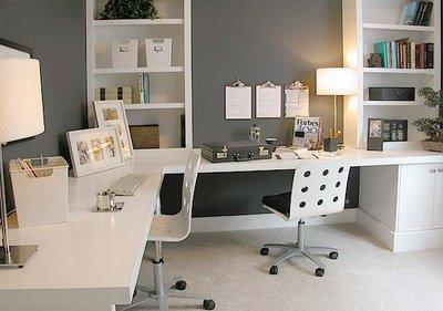 decoracao de escritorio pequeno Decoração de escritório pequeno