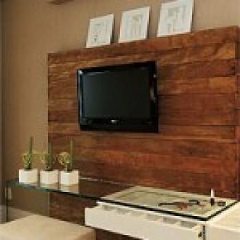 painel de madeira para tv lcd  Painel de Madeira para TV LCD