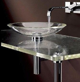 Cubas para banheiro de vidro - Lavabos de cristal de colores ...
