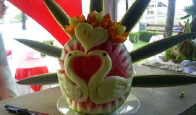 curso de esculturas em frutas e legumes Curso de Esculturas em Frutas e Legumes