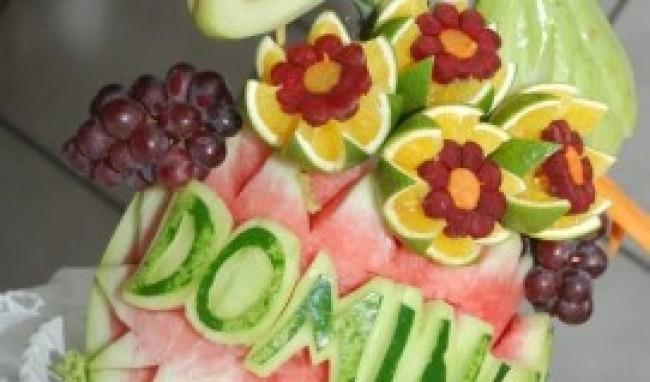 curso de esculturas em frutas e legumes1 Curso de Esculturas em Frutas e Legumes