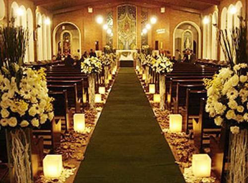 decoracao de casamentos com velas Decoração de Casamento com Velas