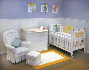 Decoarção Quarto de Bebê1 Decoração Simples Para Quarto de Bebe