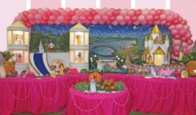 decoração das princesas para festa infantil 1 Decoração Das Princesas Para Festa Infantil